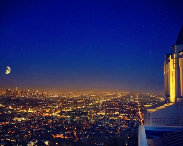 Griffith Park Observatory--LA with a view point of the Hollywood sign. Seriously, the coolest space museum in the world.